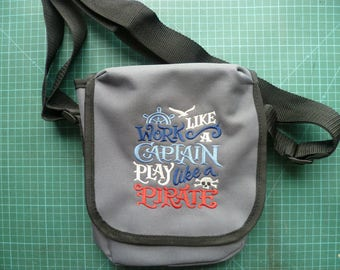 Pirate design Bag Work like a captain play like a pirate. Embroidered design Reporter Bag purse