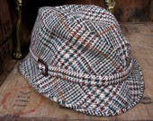 Dunn  Co Trilby Checked Trilby Mens Trilby Hat Trilby Hat Vintage Trilby Vintage Hat Mans Trilby Unisex Hat Made In Great Britain