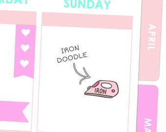 Iron Doodle Stickers / Planner Stickers