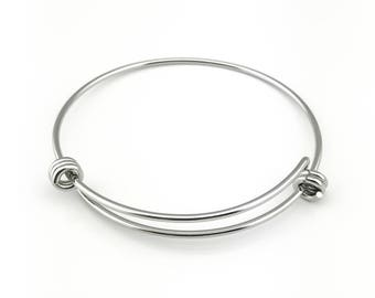 Stainless Steel Adjustable Bangle. Adjustable Stainless Steel Bracelet Bangles. Expandable Bangle, High Quality, Super Shiny!