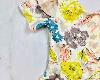 Leotard // Girl Dress // Girl Leotard//Spring//Floral //Toddler Top//Leotard//Swing Dress