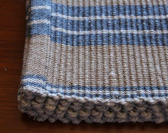 Denim Stripped handwoven placemat