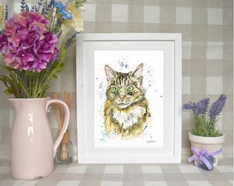 Limited edition 'George the cat' print