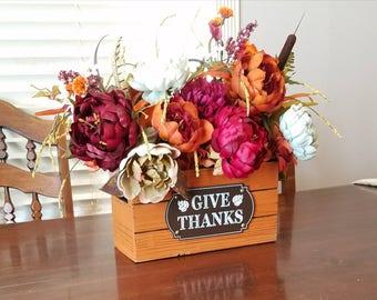 Fall Centerpiece Table Arrangement- Fall Table Decor- Fall Flower Arrangement- Fall Floral Arrangement- Thanksgiving Centerpiece
