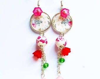 Bucolic Earrings: roses