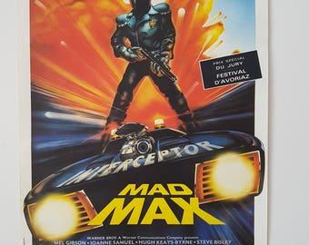 1964 Mad Max - Interceptor  Original Movie Poster, Poster Artist Signed By Landi, Window Card
