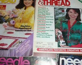 Vintage Needle & Thread Magazines 1983, 1984, 1985, 1986