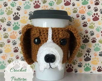 Easy Amigurumi, Amigurumi Puppy, Dog Amigurumi, Fun Crochet Patterns, Cup Sleeve Pattern, Dog Crochet Pattern, Crochet Dog Pattern