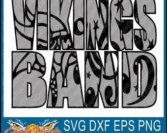 Vikings Band| SVG| DXF| EPS| Png| Cut File| Vikings| Band| Mom| Dad| Vector| Silhouette| Cricut| Digital Download