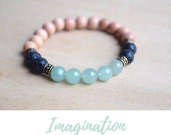 Pastel Jewelry Gift / yoga gift for mom, jewelry gift bff, mint boho bracelet, spiritual mom gift, boho green bracelet, green aventurine