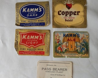 Kamm's Beer Labels from Kamm & Schellinger Co, Inc in Mishawaka, Indiana
