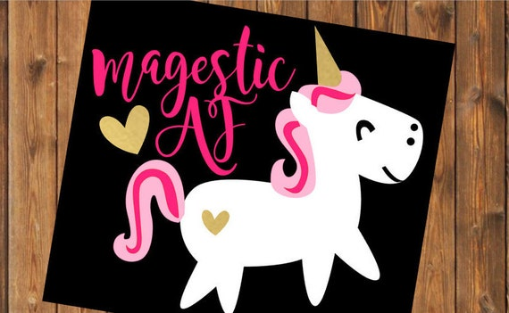 Free Shipping-Unicorn Magical Majestic AF, I'm a Unicorn, Yeti RTIC SIC Cup Decal Sticker, Car Laptop Fox Sticker Decal