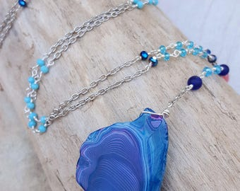 Mermaid Soul Long Statement Necklace - Mermaid Jewelry - Gifts For Her - Gifts Under 40 - Beach Jewelry - Coastal Jewelry - Boho Beach