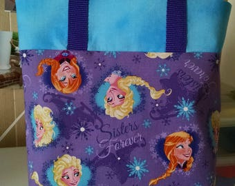 Girls Frozen Tote Bag Library Bag Ladies Tote Preschool Bag