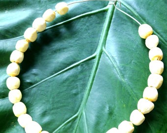 Necklace -- Choker necklace OASIS, natural lotus seeds, ethnic by All Things Natural