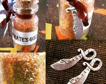 Pirate's Gold Dust Wish Dream Bottle Alternative Gift Sailor Jack Sparrow Kraken Adventure Handmade Original