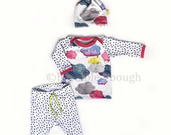 Clouds Coming Home Outfit, Take Home Outfit, Layette, Baby GIrl, Newborn +
