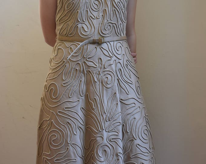 Anne Klein Embossed Abstract Dress.