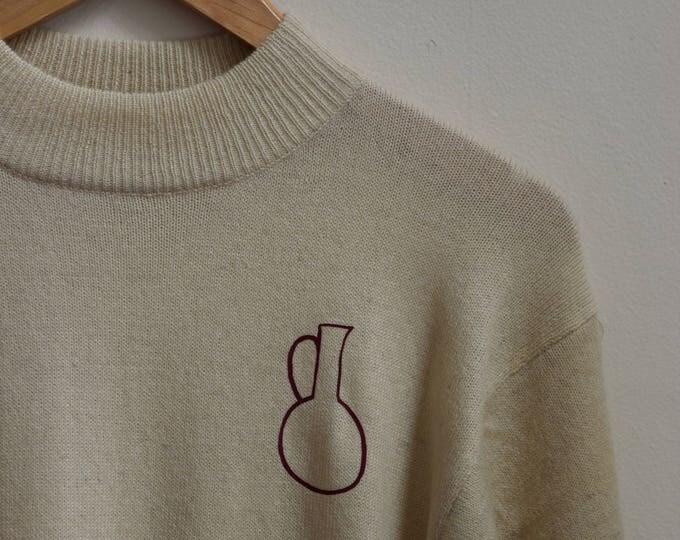 Daia Cream Mock Neck Sweater