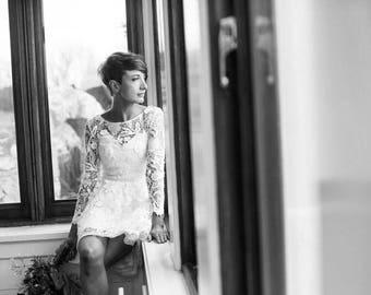 Short wedding dress etsy short wedding dress vintage lace wedding dress short lace wedding dress custom vintage sciox Choice Image