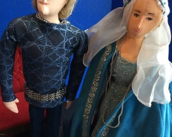 Handmade Cloth Dolls Isolde and Dylan