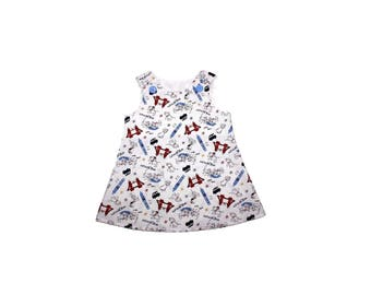 Girl Aline dress with Dalmatians Girl dress Girl Aline dress birthday girl dress baby birthday dress birthday toddler dress,Girls Dress,