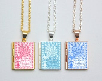 Pride and Prejudice Book Cover Locket Library  by Jane Austen Jewelry Jewellery Literary Gifts Necklace Bracelet Keychain Bookmark