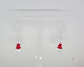 Swarovski Crystal Christmas Tree earrings with sterling silver wires.