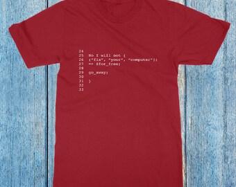 Programmer T-Shirt, Computer Code T Shirt, Programmer, IT, Coder, Computer Science, Tech Developer Shirt, Computer Programmer,Unisex T-Shirt