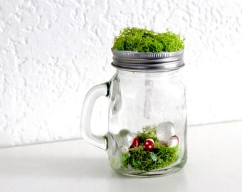 Enchanted Mushroom Crystal  Jar