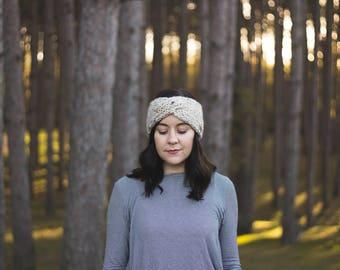 Chunky Knit Twist Turban Ear Warmer Winter Headband | THE BRIAR