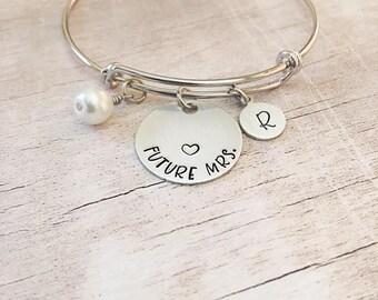 Bridal Shower Gift for Bride - Future Mrs Bracelet - Bridal Shower Gift - Wedding Gift for Bride from Groom