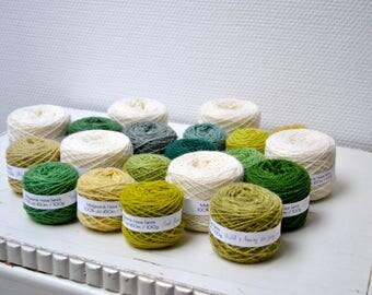 Naturally Dyed Fylgje Knitting Kit - green, yellow