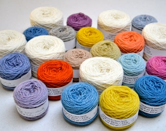 Naturally Dyed Fylgje Knitting Kit - yellow, red, purple, blue