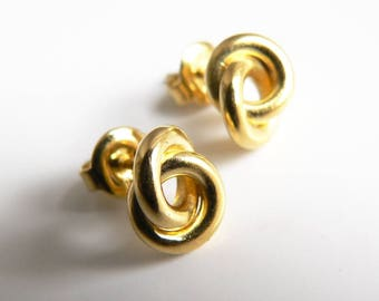tiny studs bow silver gold plated, elegantly