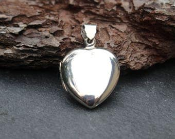 Heart Locket, Sterling Silver, Pendant, Charm