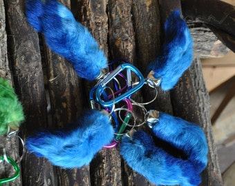 Choice of 6  colors;Humanely Farmed REAL Rabbit's foot Durable keychains