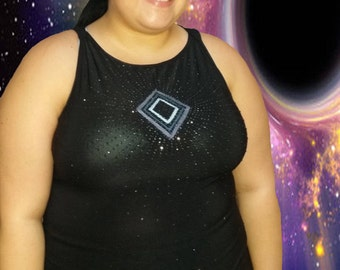 Eco-Friendly // Black Sequin Top // Plus Size 18 3X // One of a Kind