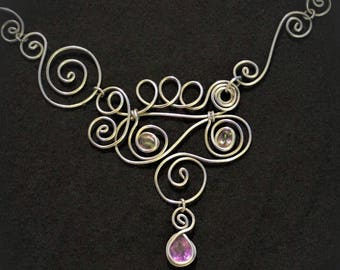 Mystic Topaz and Amethyst Necklace