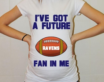 Ravens Maternity Shirt Baltimore Ravens Baby Future Fan Shirt Baby Girl Baltimore Football Maternity Clothing Pregnancy Shirt Baby Shower