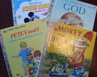 """Multiple Choice - Little Golden Books - You Pick or Buy 4 and Get 1 FREE - Lots to Choose From, Multipe Listings - Click """"More""""  for Details"""