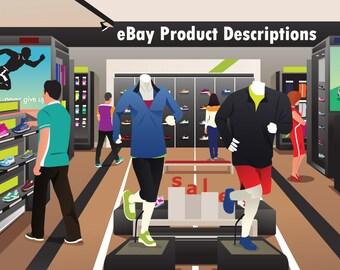 eBay Product Description Writing - eBay Sales, eBay Listing, eBay Seller, Seller Help, eCommerce, Titles, SEO, Ranking, Listing Description
