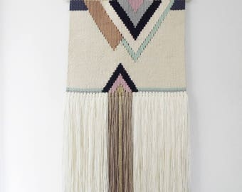 Woven Wall Hanging, Wall Art, Tapestry, Tissage