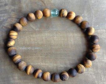 Mens bracelet gemstone bracelet Tiger eye bracelet mens jewelry beach jewelry surf jewelry beach bracelet surf bracelet stretch bracelet