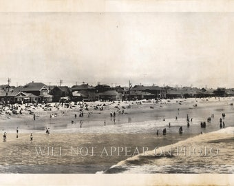 "1908 Santa Monica Bay California Vintage Panoramic Photograph Panorama 29"" Long"