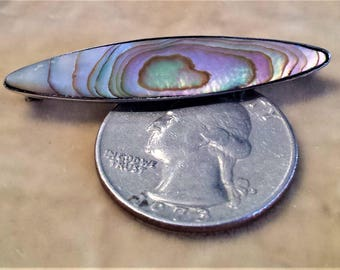 Sterling Silver Abalone Shell Pin