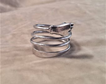 Vintage Silver Fist Ring