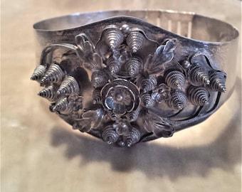 Rare, Vintage Silver, Adjustable Bracelet