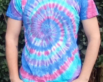 Unique Tie Dye, Tie Dye T-shirt, Alternative Lifestyle, One Off Tie Dye, Gift for Him, Hippy Tshirt, Festival Clothing, Hippy Gifts