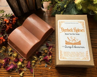 Sherlock Holmes Bar Soap - Book Lovers Gift, Sherlock Gift - Handcrafted Bar Soap